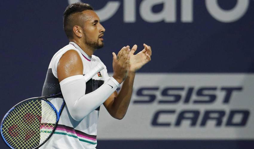 Nick Kyrgios argues with spectator during Miami… - news of today
