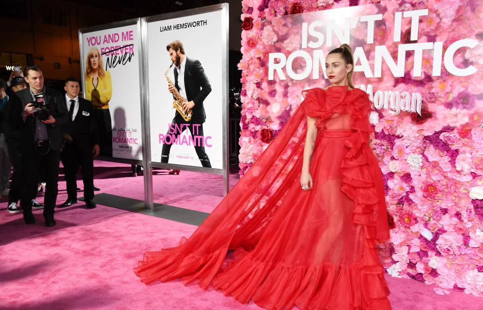 news of today - Telling the untold - Miley Cyrus steps in for hospitalized Liam Hemsworth at 'Isn't It Romantic' premiere