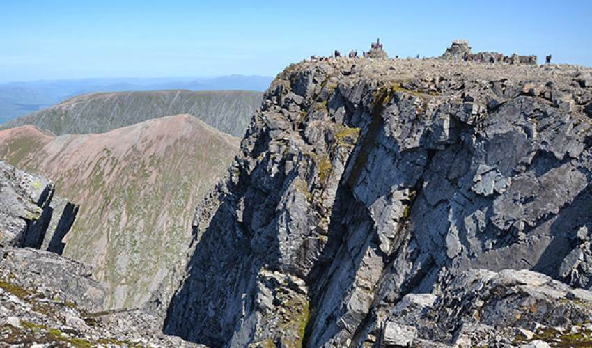 Soggy Ben Nevis can be remarkably dry - news of today